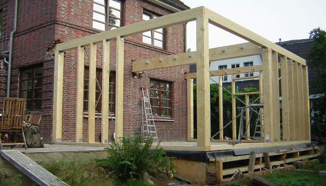 Anbau in Holzbauweise mit Kupferblech