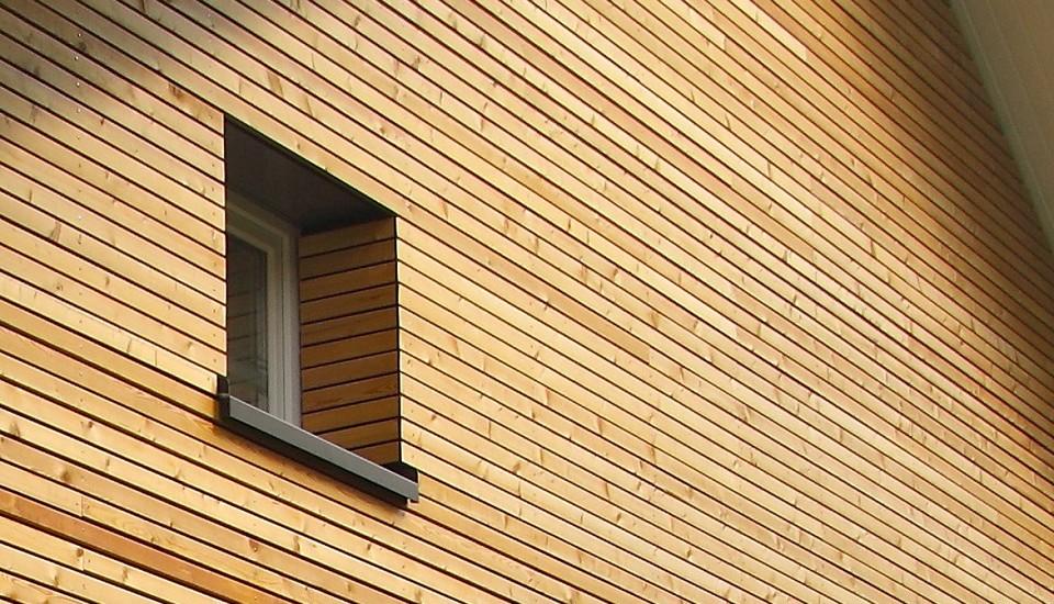 Energetische Sanierung - Fassade mit sibirischer Lärche
